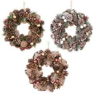 Traditional Christmas Wreath Blush Pink,Glitter,Frosty