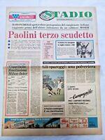QUOTIDIANO STADIO 27-6-1977 ENRICO PAOLINI CAMPIONE ITALIANO MILAN INTER