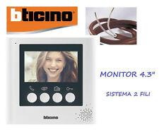 MONITOR AGGIUNTIVO 332253 BTICINO X KIT 316913 VIDEOCITOFONO A COLORI 4,3