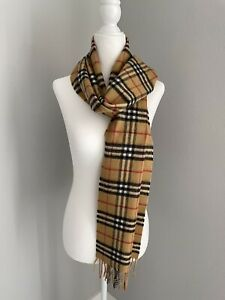 Burberry Cashmere Vintage Check Scarf NWT 100% Authentic 40731221