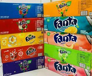 American Fanta Can Drink,Flavoured Soda,Caffeine Free,12 Cans x 355ml,12 Flavor