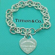 Sterling Silver Pulsera CHARM CORAZÓN CLÁSICA AG 925 Genuine Tiffany & Co. bag