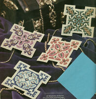 Christmas Treasures Ornaments Cross Stitch Patterns from magazine 4 designs