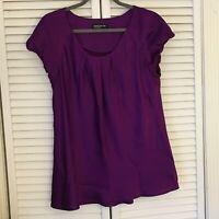 EUC Sz 14 Jones NY Purple Silk Dress Shirt Free Shipping