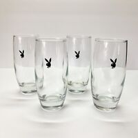 Vintage 1960's Playboy Glasses Tall Highball 10 Ounce - Set of 4