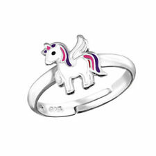 Children's Girls jewellery Winged UNICORN Horse Sterling Silver Adjustable RING