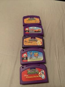 LeapFrog  Lot of 5. Finding Nemo, Cars, Pooh Gets Stuck, Toy Story 2 & Princess