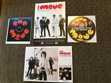 The Move Jeff Lynne ELO Lot Collectors Postcards #4 2006 Promo Stickers Roy Wood
