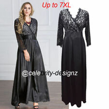 Lace 3/4 Sleeve Satin Dresses for Women