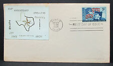 Lone Star Austin Texas First Day cover patriotic Stamp US primero etiquetas carta (h-6300