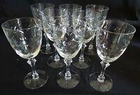 Tiffin USA Laurel Wreath Set of 8 Water Goblets - Cut Glass