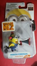 Despicable Me 2 Minion Fireman action figure with loudspeaker