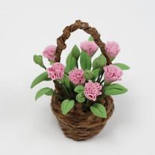 Pflanzen Nelken Flower Clay für 1:12 Puppenhaus Miniatur Esszimmer  Neu.