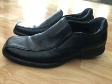 GH Bass Co Black Leather Casual Dress Penny Loafers Shoes Men's 8,5 Rubber Sole