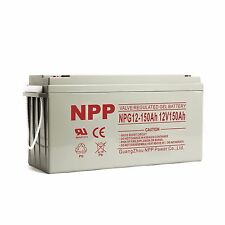 NPP 12V 150Ah Rechargeable AGM Gel Deep Cycle Long Life Battery