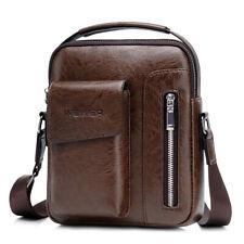 Vintage Men's Leather Casual Messenger Bag Cross-body Tote Handbag Shoulder Bag