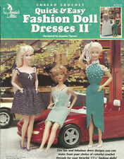 """Fashion Doll Dresses #2 Quick & Easy Crochet Patterns 11 1/2"""" Barbie Evening NEW"""