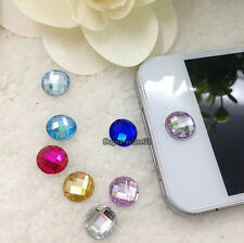 10pcs Colors  diamant Strass autocollant Bouton pour l'iPhone 4 4S 5 6 iPod iPad