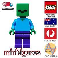 Genuine LEGO® Minifigure - Minecraft Zombie - Green