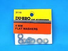 Du-Bro 2110 Rondelles 4 mm (8) Flat Rondelles | modélisme
