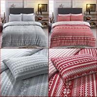 Fairisle Bedding Set Duvet Cover King Size Double Single Flannellete Bedding New