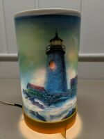 Vintage 1971 LACOLITE Rotating Motion Lamp Lighthouse Tall Sail Ship