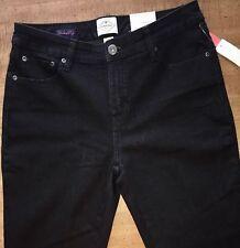 SECRETLY SLENDER JEANS Women's Black size 6P Bootcut-Leg Stretchy Jeans (#V18)