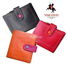 Women Purse Soft Leather Wallet Small Slimline Visconti New in Gift Box M77