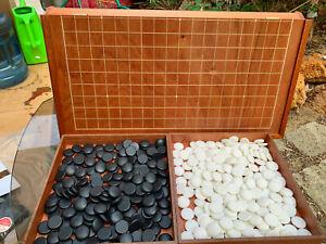 Qulaity 9x19 foldable Go board game set -Baduk-Weiqi- with porcelain stones