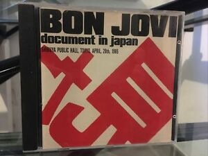 RARE EDITION CD ALBUM BON JOVI DOCUMENT IN JAPAN - PUBLIC SHIBUYA TOKYO 1985  ⭐️