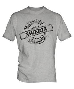 MADE IN NIGERIA MENS T-SHIRT GIFT CHRISTMAS BIRTHDAY 18TH 30TH 40TH 50TH 60TH