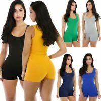 Womens Casual Sleeveless Bodycon Romper Jumpsuit Club Bodysuit Short Pants New