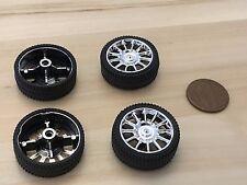4 Pieces 26MM Diameter rubber Car Robot Tire Wheel DC Motor 4pcs C32