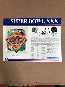 Troy Aikman Signed Super Bowl XXX Patch Card JSA Authentication