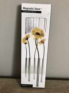 Peleg Design Magnetic Flower Vase 5 Aluminum Vases Flowers Home Decor Party