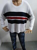 Maglione HOLLISTER Donna taglia size M Maglia maglietta sweater woman pull p5165