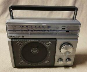 REALISTIC PORTAVISION 60 Portable 5 Band Radio AM FM UHF TV Radio Shack 12-781