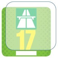 3x Haftfolie für Vignette Feinstaubplakette Umweltplakette ablösbare Trägerfolie
