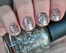 OPI Mariah WONDEROUS STAR Gold Glitter Black Fleck Nail Polish Lacquer .5 oz E12