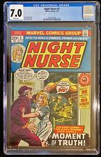 1973 Marvel Night Nurse #2 CGC 7.0 White Pages