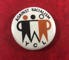 YOUNG COMMUNIST LEAGUE AGAINST RACIALISM. 1970's. Pin Button Badge Very Rare.