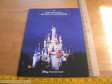 Disney Vacation Club Disneyland Membership folder 2000s