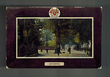 1909 Leicester England to Shanghai China RPPC Postcard Cover Street View