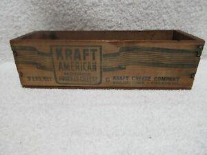 vintage wooden Kraft cheese 2 pound box lot A