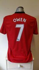 Manchester United Home Football Shirt Jersey 2009-2010 OWEN 7 Large