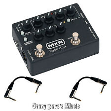 MXR Bass D.I.+ Distortion+ M80 Effects Pedal DI Dunlop M 80 NEW w 2 Patch Cables