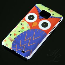 Samsung Galaxy S2 i9100 Hard Handy Case Schutz Hülle Etui Eule Blau Schale Owl