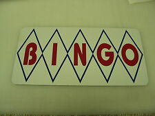 Diamond BINGO Sign Metal vintage Pop Soda Fountain Drive In Vending Machine