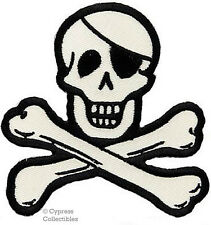 PIRATE LOGO iron-on PATCH Embroidered Skull Crossbones JOLLY ROGER SKELETON