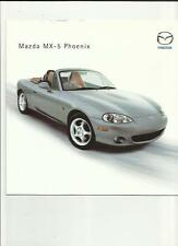 MAZDA MX-5 PHOENIX SPECIAL EDITION SALES BROCHURE MARCH 2002
